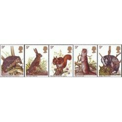 5 عدد تمبر حفاظت از حیات وحش - انگلیس 1977