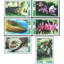 6 عدد تمبر 'گیاهان و جانوران  - کوبا 2010