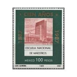 1 عدد تمبر صدمین سالگرد آموزش عالی - مکزیک 1987