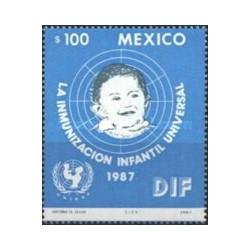 1 عدد تمبر کمپین ایمن سازی اطفال - مکزیک 1987