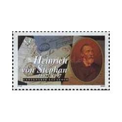 1 عدد تمبر روز جهانی پست  - هنریش فون استفان - مکزیک 1997