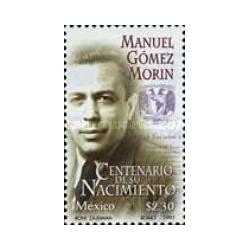 1 عدد تمبر صدمین سالگرد تولد مانوئل گومز مورین  - سیاستمدار - مکزیک 1997