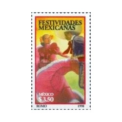 1 عدد تمبر فسیوالها - مکزیک 1998