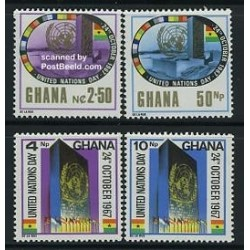 4 عدد تمبر روز سازمان ملل - غنا 1967