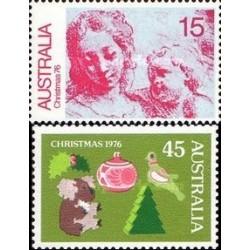 2 عدد تمبر کریستمس - استرالیا 1976
