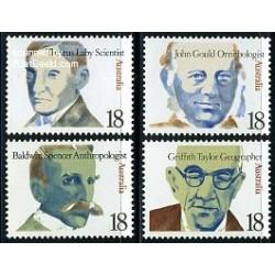 4 عدد تمبر استرالیائی های نامدار - استرالیا 1976