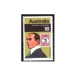 1 عدد تمبر هفته ملی تمبر - استرالیا 1976