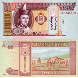 اسکناس 20 تغریک - مغولستان 2011