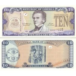 اسکناس 10 دلار - لیبریا 2006