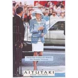 سونیرشیت یادبود پرنسس دایانا - پرنسس ولز - آیتونکی - جزایر کوک  1998