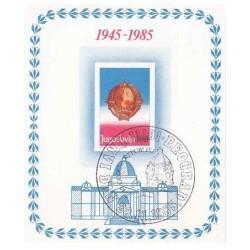 سونیرشیت چهلمین سالگرد جمهوری - ممهور به مهر روز انتشار - یوگوسلاوی 1985