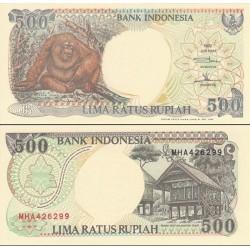 اسکناس 500 روپیه - اندونزی 1998 - تاریخ حاشیه سفید