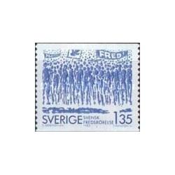 1 عدد تمبر انجمن صلح - سوئد 1983