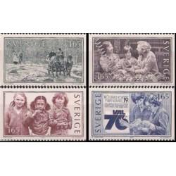4 عدد تمبر زندگی جمعی - سوئد 1982