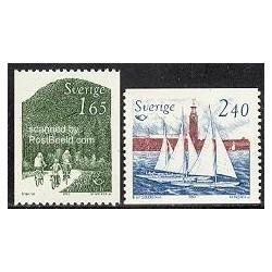 2 عدد تمبر توریسم - سری نوردیک - سوئد 1983