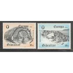 2 عدد تمبر مشترک اروپا - Europa Cept - جبل الطارق 1983
