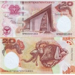 اسکناس 20 کینا - پاپوا گینه نو 2008