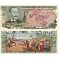 اسکناس 5 کلون - کاستاریکا 1981