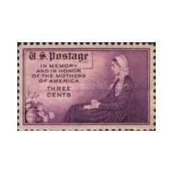 1 عدد تمبر مادران آمریکا - مادر ویسلر - آمریکا 1934
