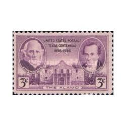 1 عدد تمبر صدمین سال تاسیس ایالت تگزاس - آمریکا 1936