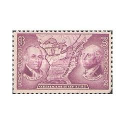 1 عدد تمبر صد و پنجاهمین سال منشور قلمرو سرزمینهای شمال غرب - آمریکا 1937