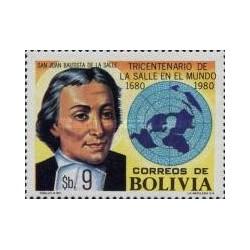 1 عدد تمبر سیصدمین سالگرد برادران مدرسه کریستین - بولیوی 1980