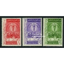3 عدد تمبر اولین مجلس فدرالی - مالزی 1959