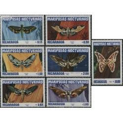 7 عدد تمبر پروانه ها - نیکاراگوئه 1983
