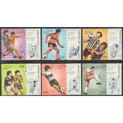 6 عدد تمبر جام جهانی فوتبال ایتالیا - لائوس 1989