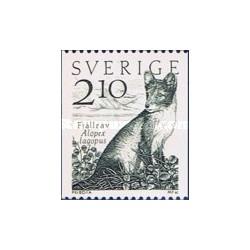 1 عدد تمبر روباه قطبی - سوئد 1983