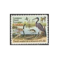 1 عدد تمبر آب شیرین - آمریکا 1985
