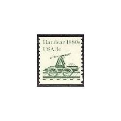 1 عدد تمبر ترن دستی - Handcar - آمریکا 1983